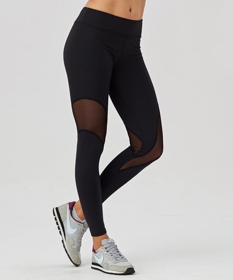 Black Tulle Leggings