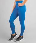 Klasyczne legginsy kobaltowe z wysokim stanem