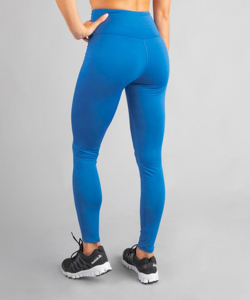 Klasyczne legginsy kobaltowe z wysokim stanem 3