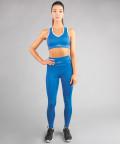 Klasyczne legginsy kobaltowe z wysokim stanem 4