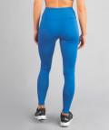 Klasyczne legginsy kobaltowe z wysokim stanem 5