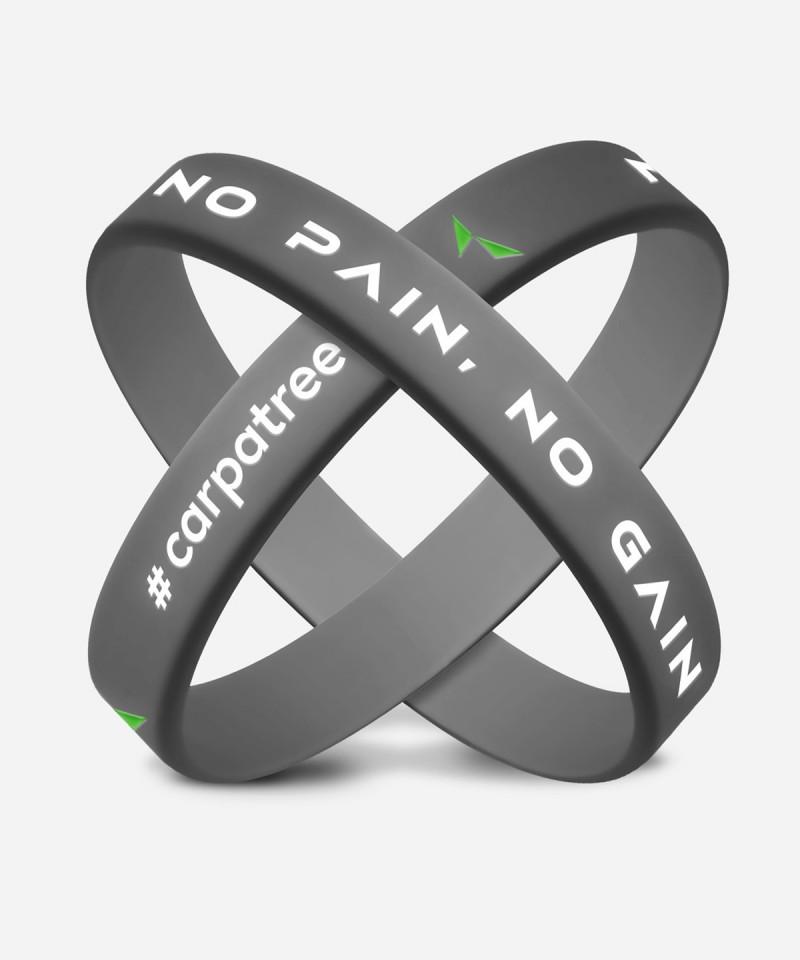 Szara opaska No Pain, No Gain