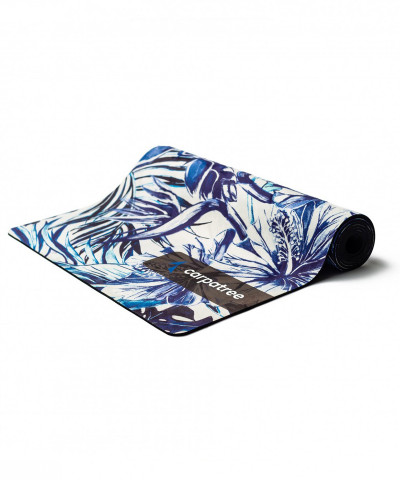 Blue Tropical Yoga Mat