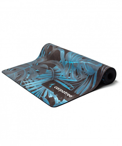 Navy Tropical Yoga Mat