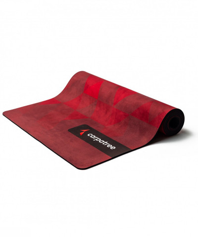 Red Triangles Yoga Mat