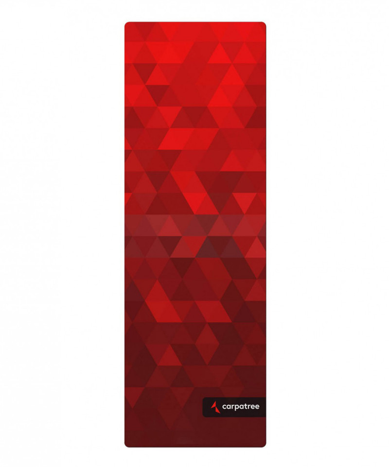 Red Triangles Yoga Mat 2