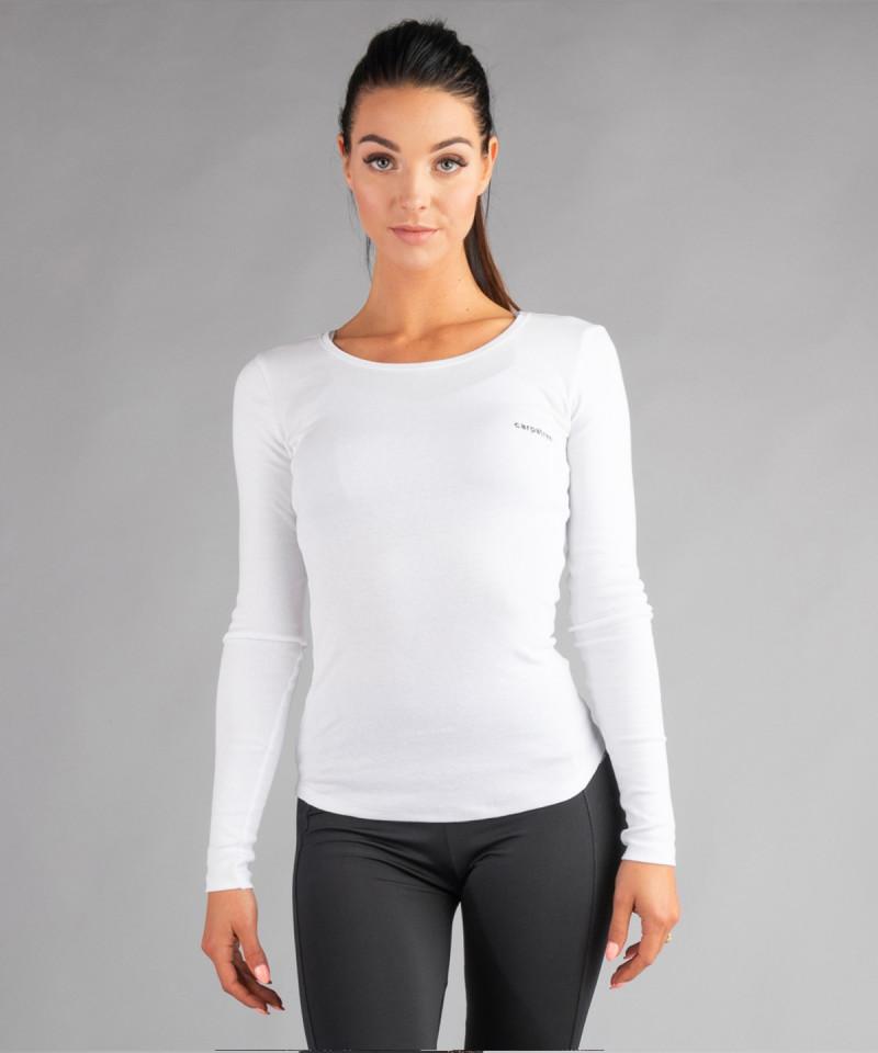 Biała bluzka z okrągłym dekoltem 2