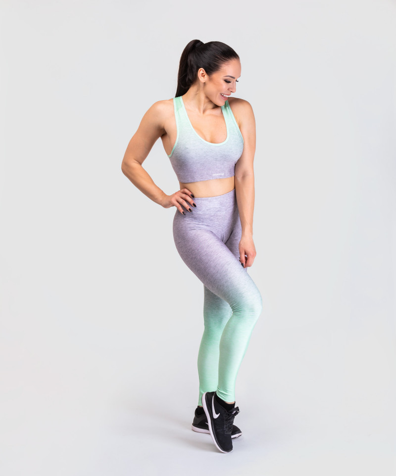Grey and Mint Ombre Classic Bra 3