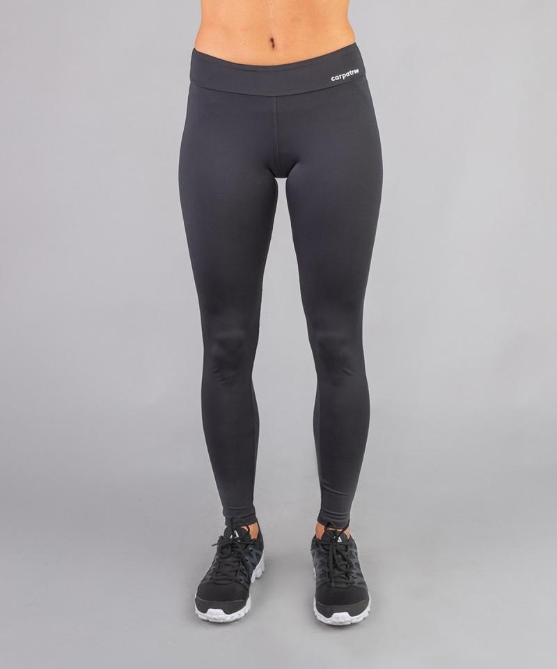 Czarne legginsy z regularnym stanem 2