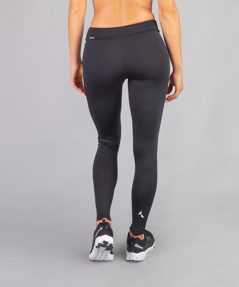 Czarne legginsy z regularnym stanem 3