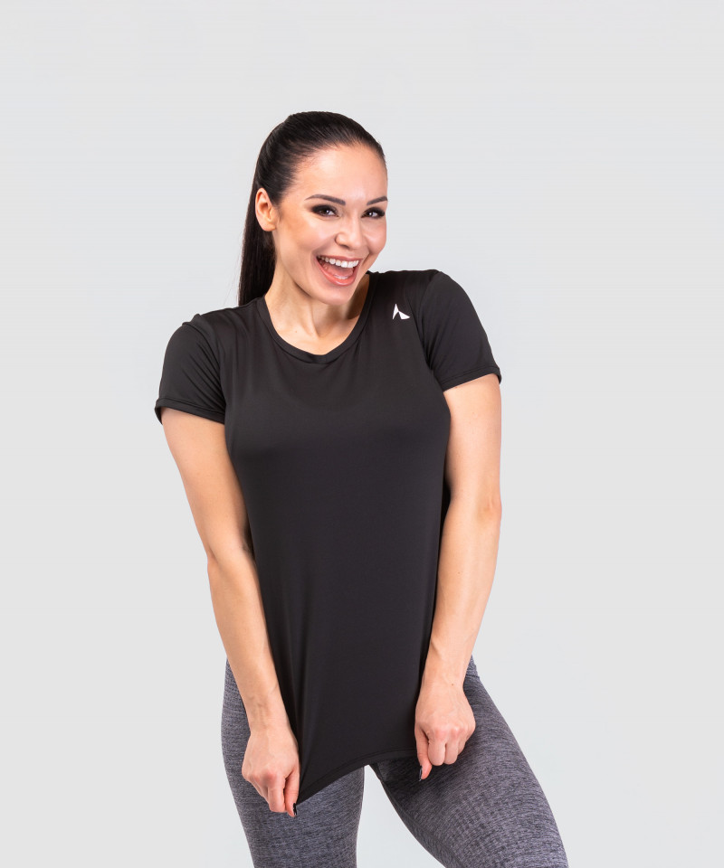 Czarny dopasowany t-shirt