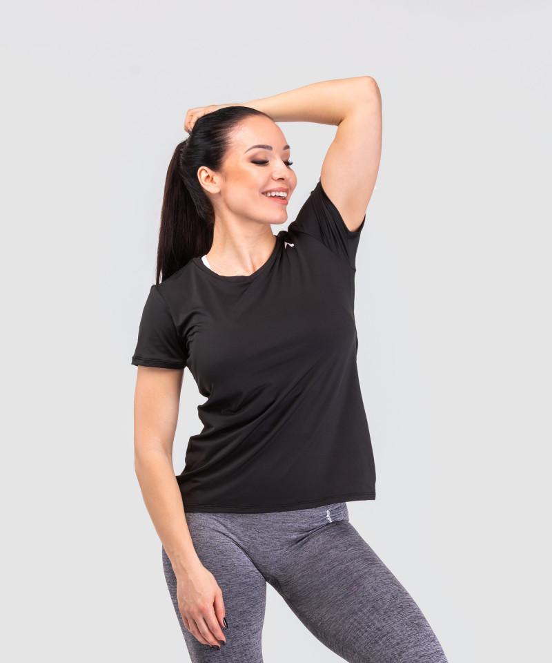 Czarny dopasowany t-shirt 5
