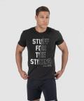 Czarny klasyczny t-shirt z nadrukiem Stuff for the Strong 1