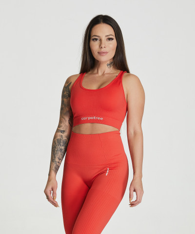 Red Essential Seamless Bra 1
