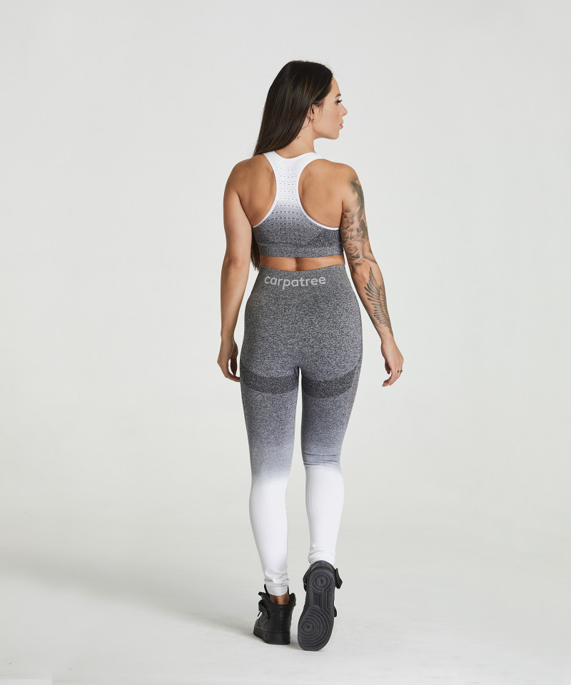 Grey & White Ombre Phase Seamless Leggings 5
