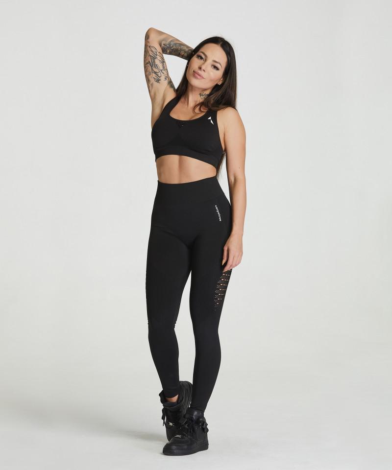 Czarne legginsy bezszwowe Phase 2