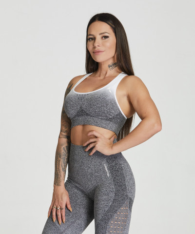 Grey & White Ombre Phase Seamless Bra 1