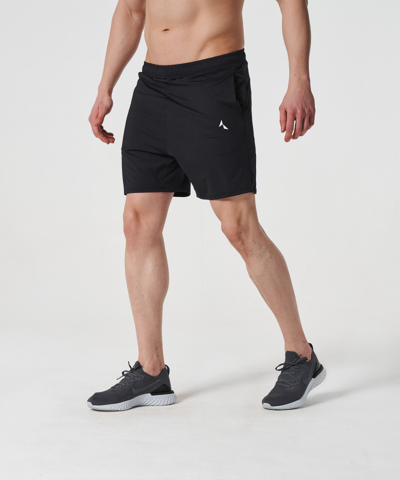 Black Voyager Zipped Shorts 2