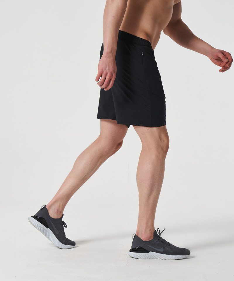 Black Voyager Zipped Shorts 5