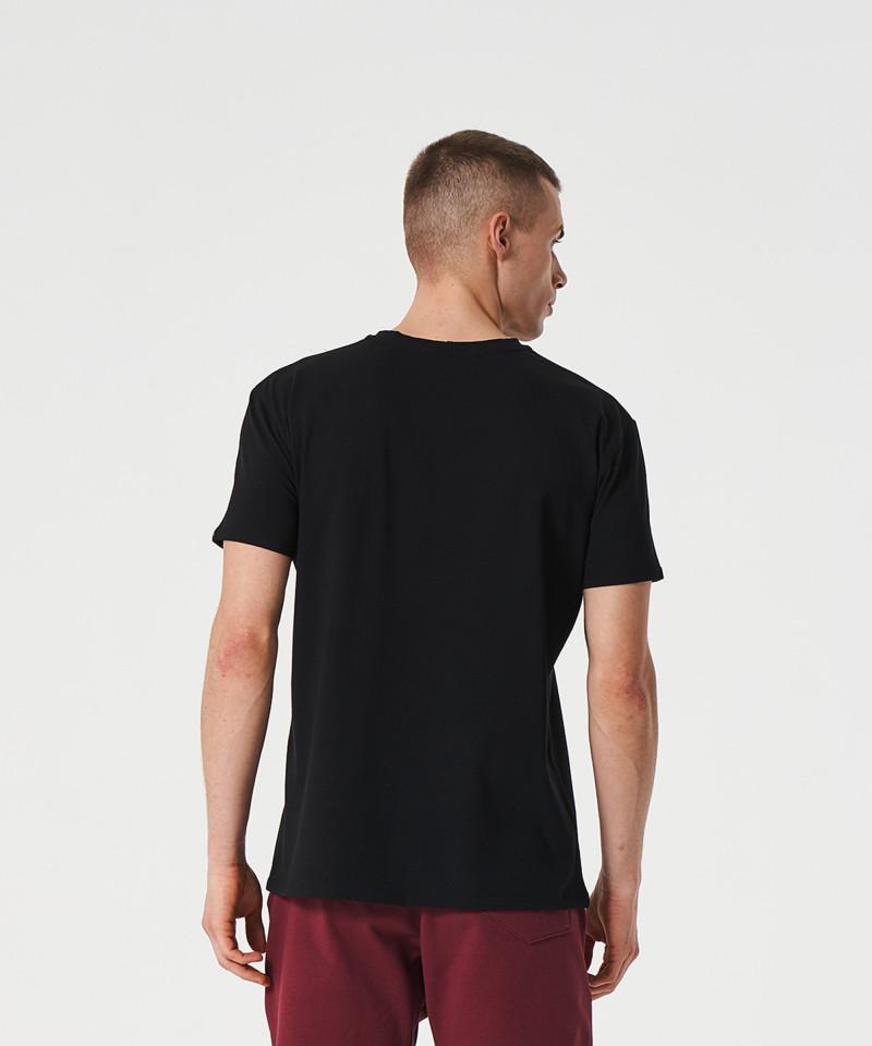 Czarny t-shirt Signed 2