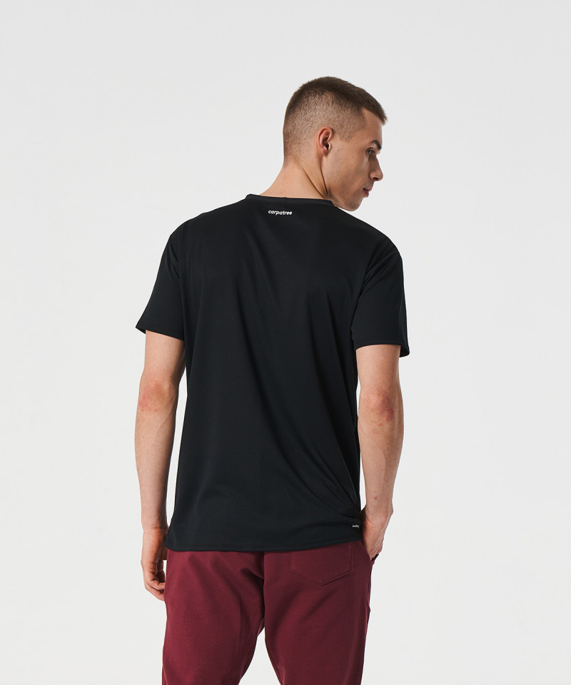 Czarny t-shirt termoaktywny Analog 2