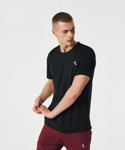 Мужская Черная термоактивная футболка Analog