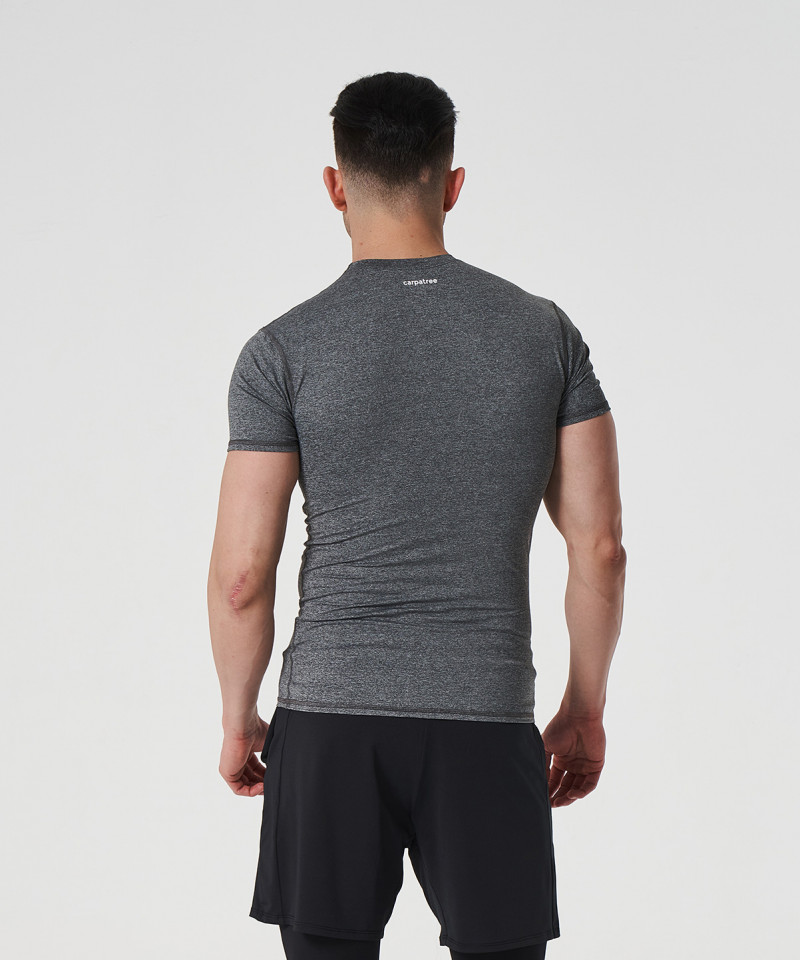 Jasny melanż T-shirt kompresyjny Delta 2