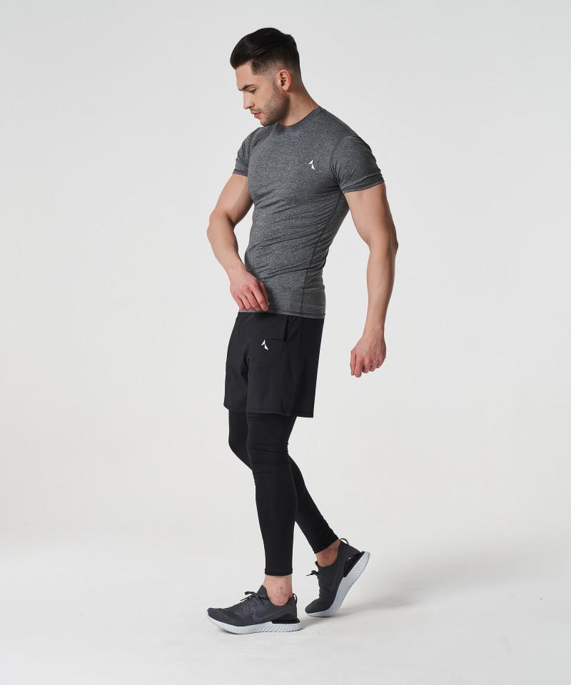 Jasny melanż T-shirt kompresyjny Delta 3