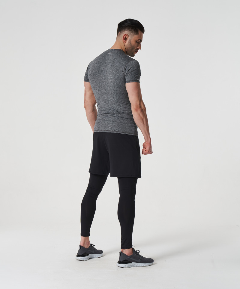 Jasny melanż T-shirt kompresyjny Delta 5