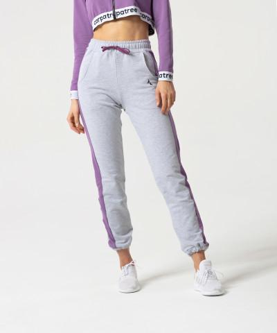 Grau/Violett Jogginghose Relaxed 1