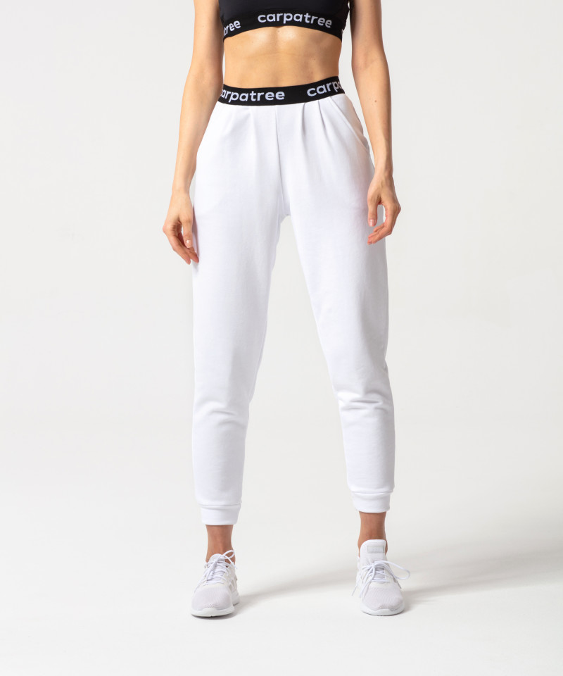 White Lucky Joggers 1