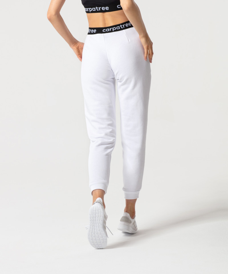White Lucky Joggers 2