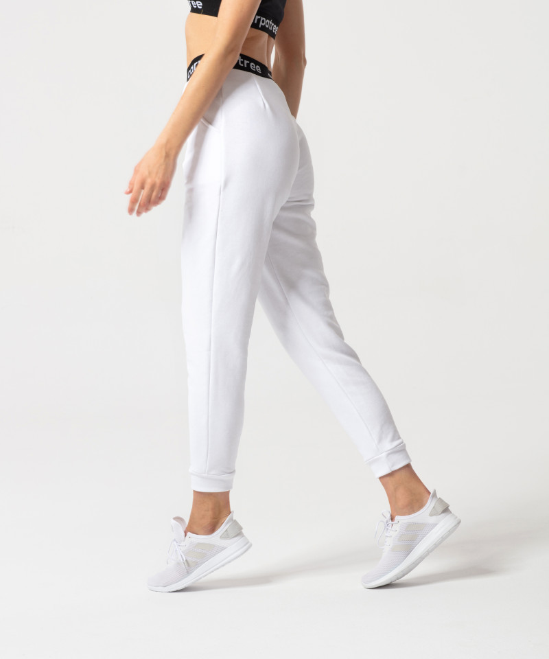 White Lucky Joggers 3
