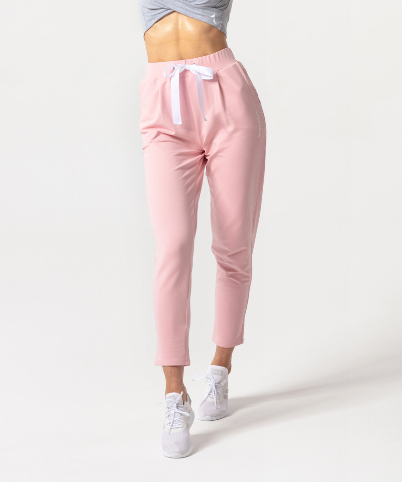 Coral Ultimate Tied Sweatpants 1