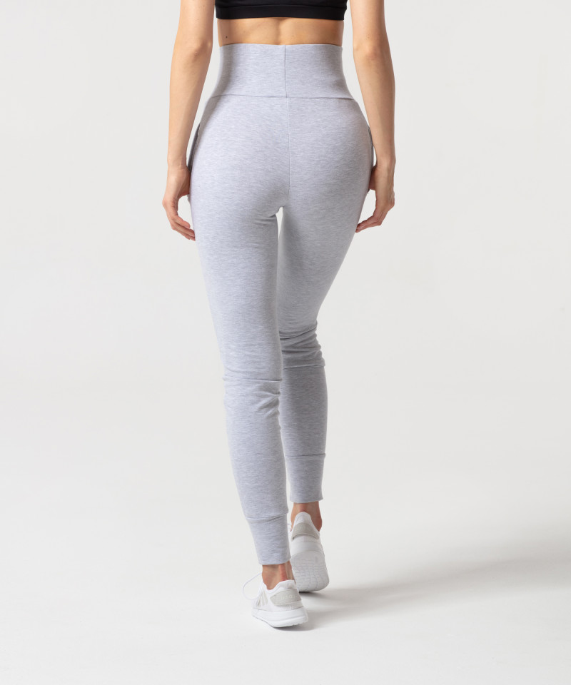 Szary melanż spodnie dresowe Belle 1