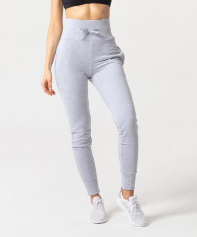 Szary melanż spodnie dresowe Belle 2