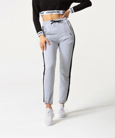 Szaro-czarne spodnie dresowe Relaxed 1