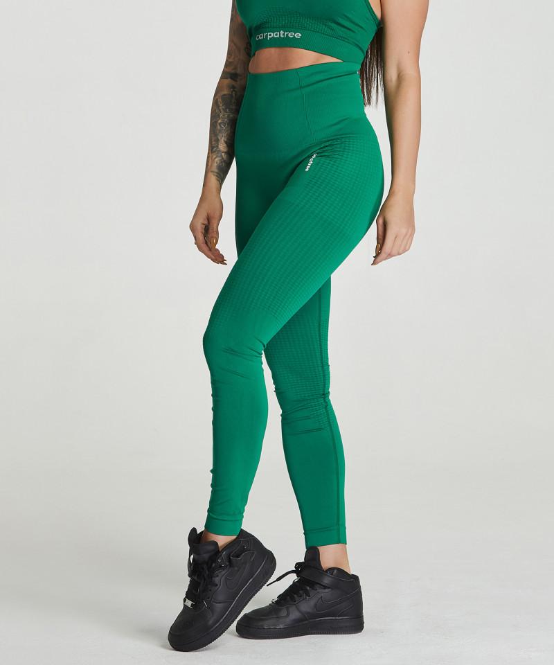 Зеленые бесшовные леггинсы Model One 1