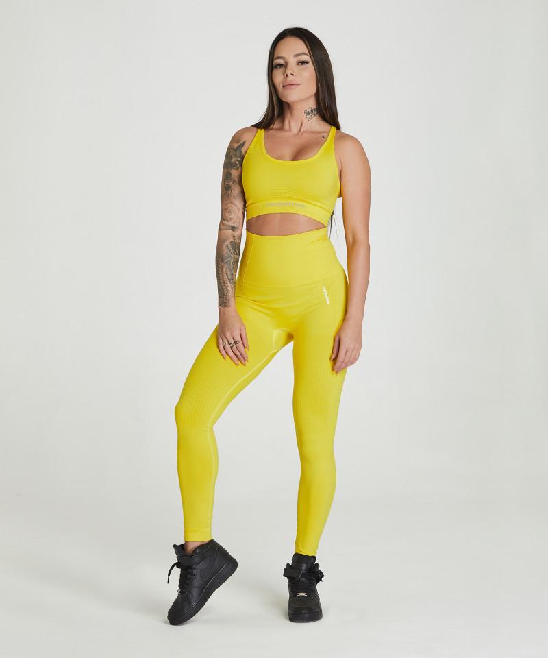 Yellow Model One Seamless Leggings 2