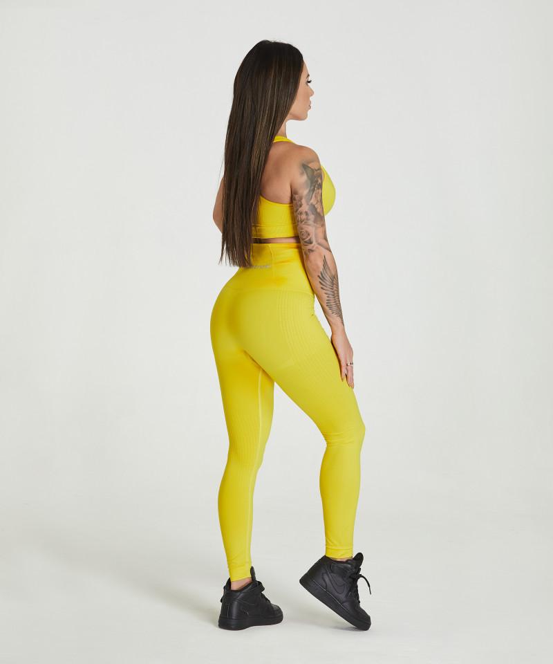 Yellow Model One Seamless Leggings 4