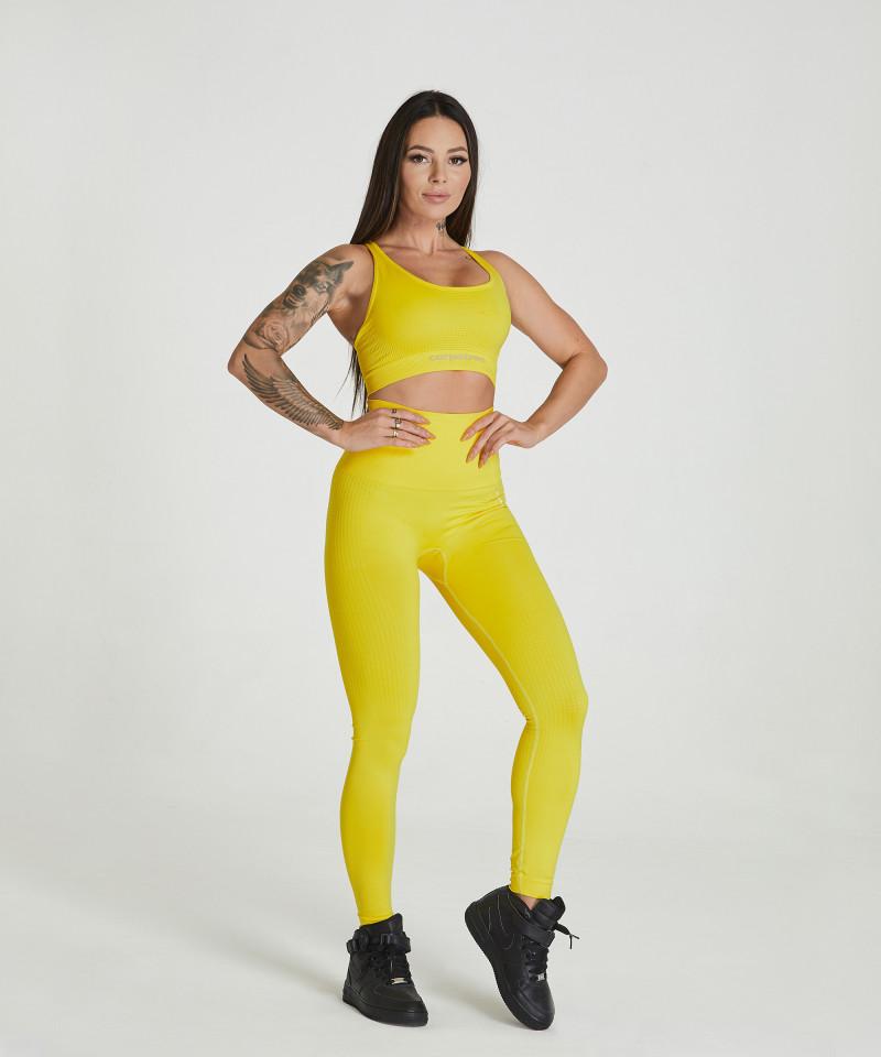 Yellow Model One Seamless Leggings 5