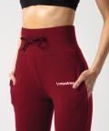 Burgundy Belle Sweatpants 4