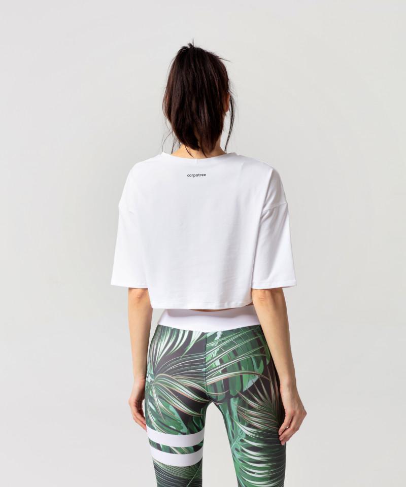 Biała koszulka oversize 2