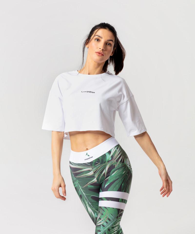 Biała koszulka oversize 3