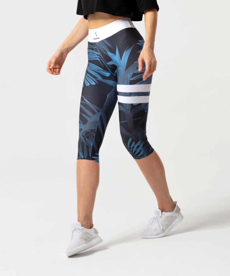Navy legginsy 3/4 Tropical 3