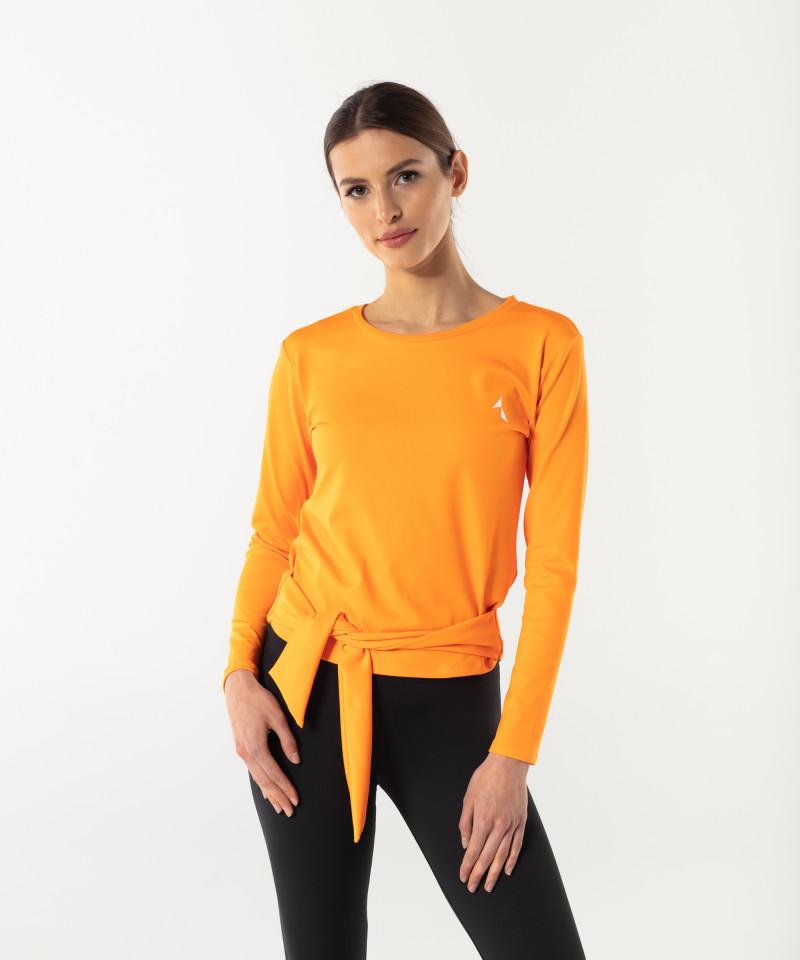 Damen Orange Longsleeve Tied up 1