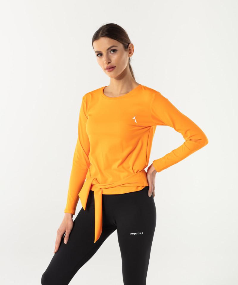 Damen Orange Longsleeve Tied up 3