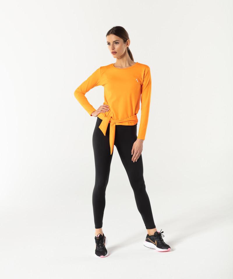 Damen Orange Longsleeve Tied up 4