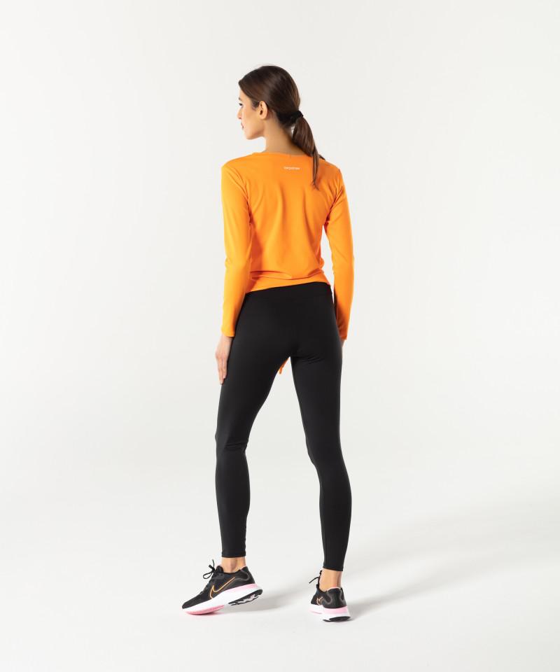 Damen Orange Longsleeve Tied up 5