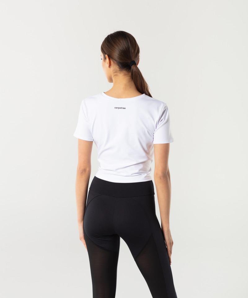 Dámské Bílé Tied up tričko s krátkým rukávem 3